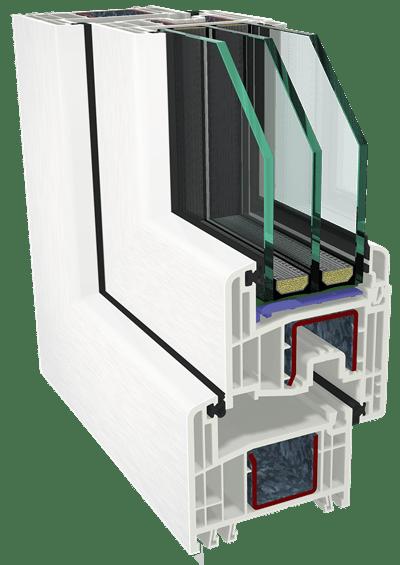 Συνθετικά κουφώματα PVC GEALAN - Σύστημα GEALAN S 8000 iq