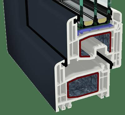 Συνθετικά κουφώματα PVC GEALAN - Σύστημα S-8000 IQ (με πέντε θαλάμους)