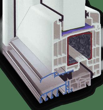 Κατωκάσι αλουμινίου για τα κουφώματα PVC της GEALAN - Μάστορας Σπυρέτος