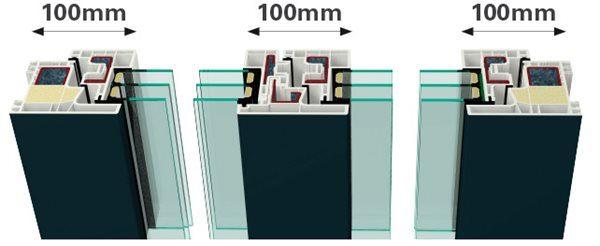 Κουφώματα PVC GEALAN - Kubus, πλάτος δομικών στοιχείων