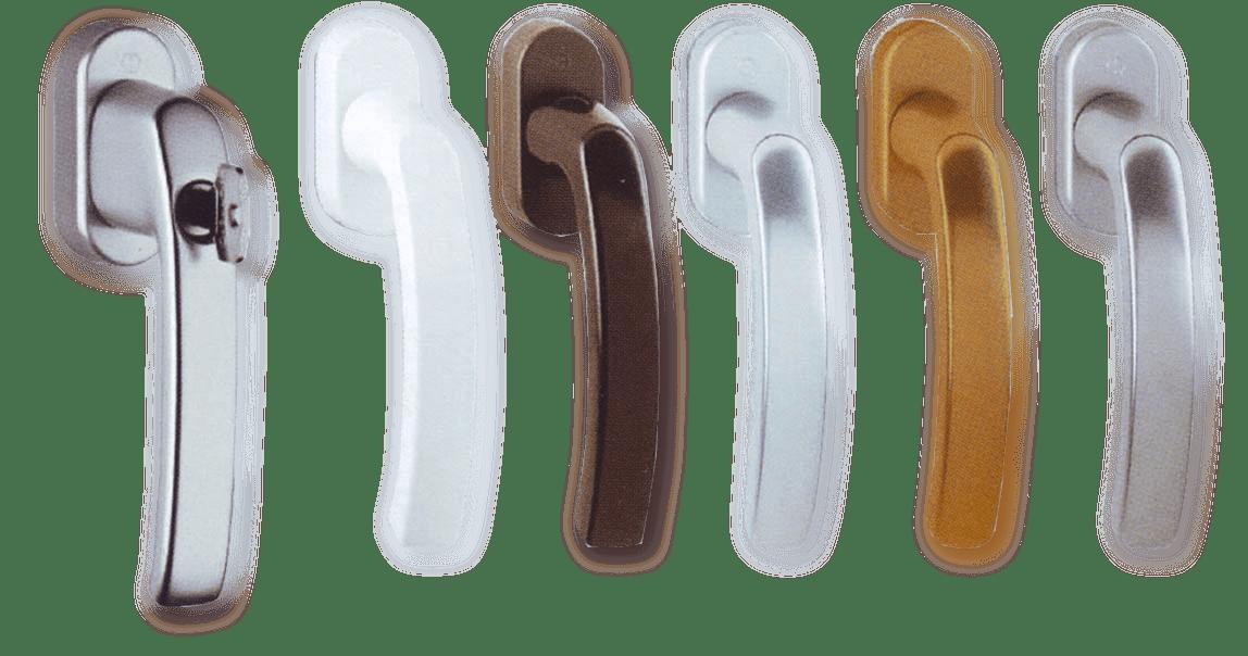 Πόμολα σε 5 χρωματικές επιλογές και χερούλι με κλειδί για κουφώματα PVC - GEALAN - Μάστορας Σπυρέτος